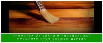 Пропитка от влаги и гниения: как продлить срок службы дерева